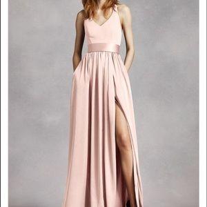 White by Vera Wang Bridesmaid Dress, Blush Size 4